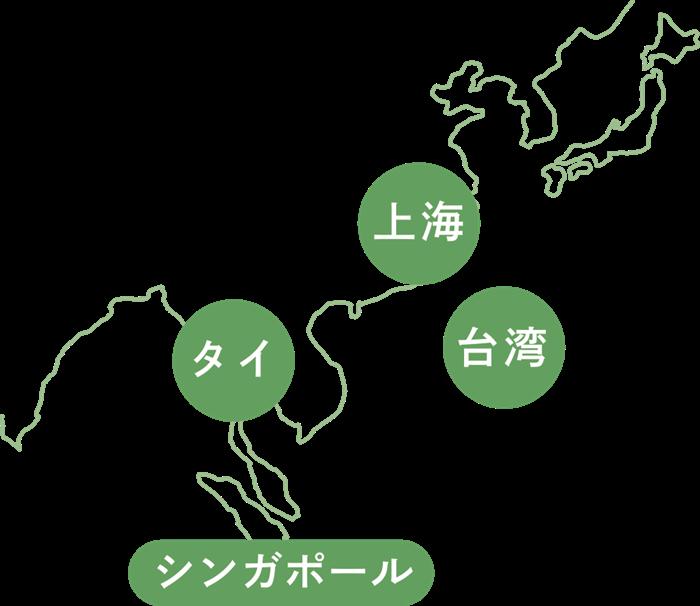海外事業(アジアマップ)